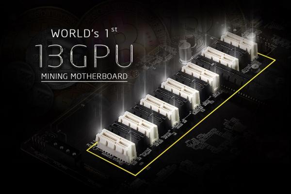 Ферма GPU на 13 видеокартах