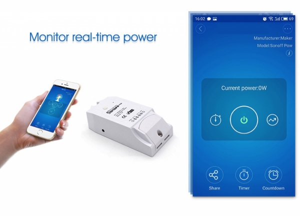 WiFi реле Sonoff 16A
