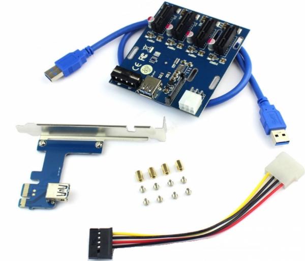Расширитель портов PCI-E 1 на 4