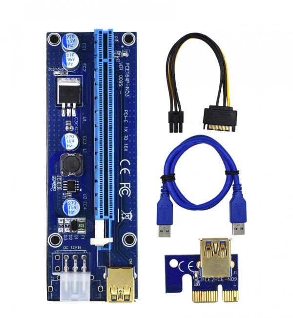 USB райзер 6 Pin LED