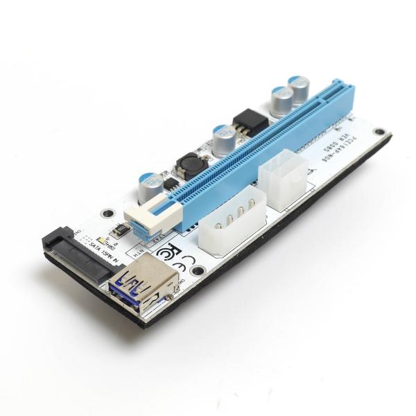 USB райзер Molex/6pin/Sata LED