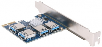 Расширитель портов PCI-E 1 на 4 USB